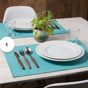 TURQUOISE PLACEMATS DINING NEW 8 PC